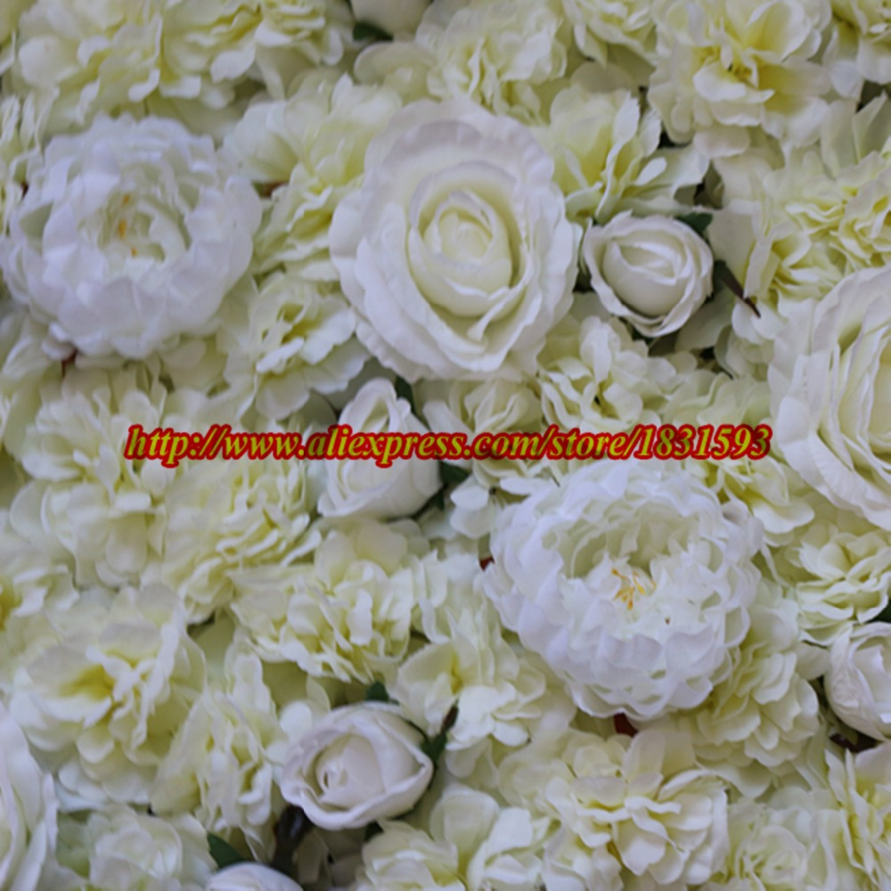 10pcs/lot Artificial Silk Rose And Peony Flower Wall Wedding Background  Decoration Road Lead Market Decoration Ivory TONGFENG In Artificial U0026 Dried  Flowers ...