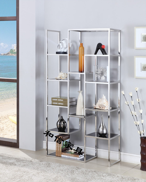 Multifunction Modern Minimalist Stainless Steel Shelves IKEA Furniture  Custom Creative Shelving Rack Storage Shelves Five