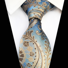 High Quantity 18 Styles Men 8CM Silk Tie Fashion Paisley Floral Party Wedding Classic Business Woven Mens Wide Necktie Gifts