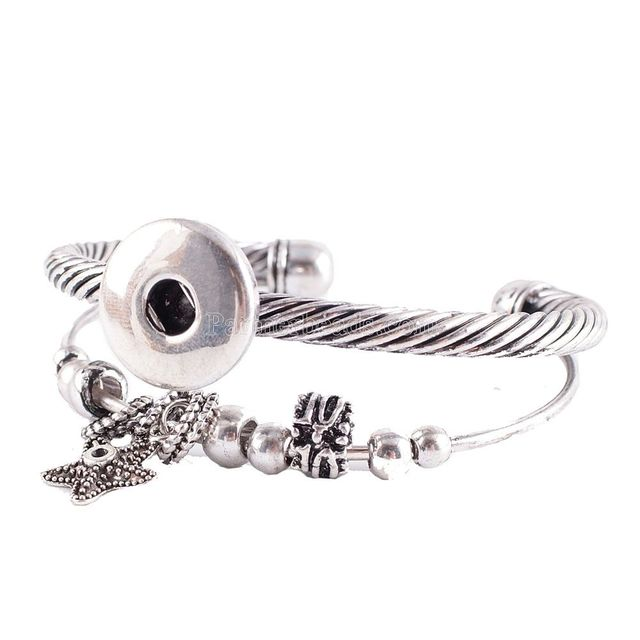 20mm Partnerbeads Hot Snap Bracelet Fashion Diy Charms Bangles Ons Jewelry Angel Silver
