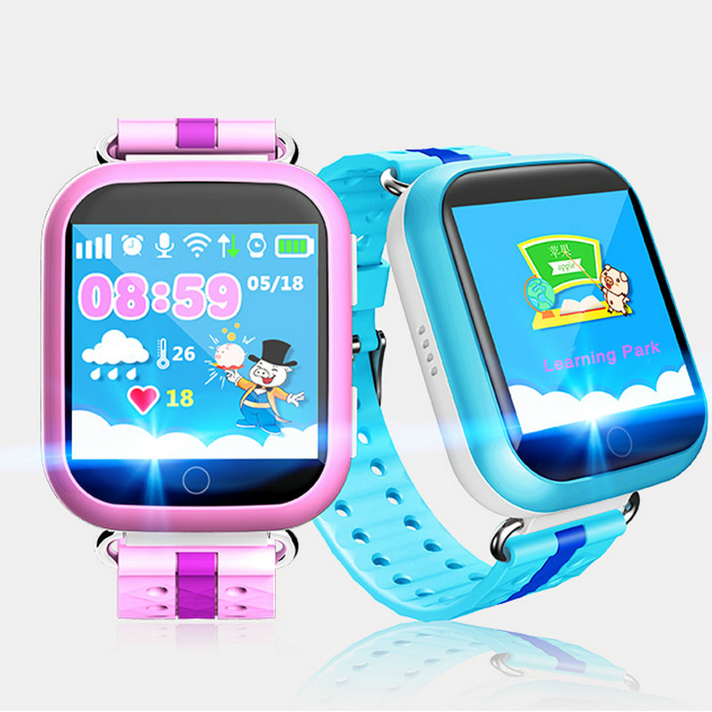 2018 GPS Smart Watch Q750 Q100 Baby Smart Watches For Kid Cute Phone Watch 1.54inch Touch Screen SOS Call Location for Kid Safe