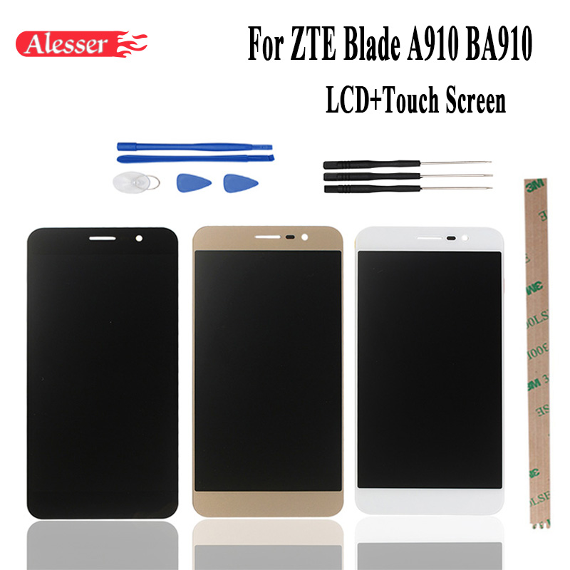 Alesser For ZTE Blade A910 BA910 TD LTE LCD Display Touch Screen 100 Assembly Repair Parts