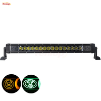 The Newest Light Sourcing 23 Inch 80W Cree Light Bar White Red Green Blue Amber Background