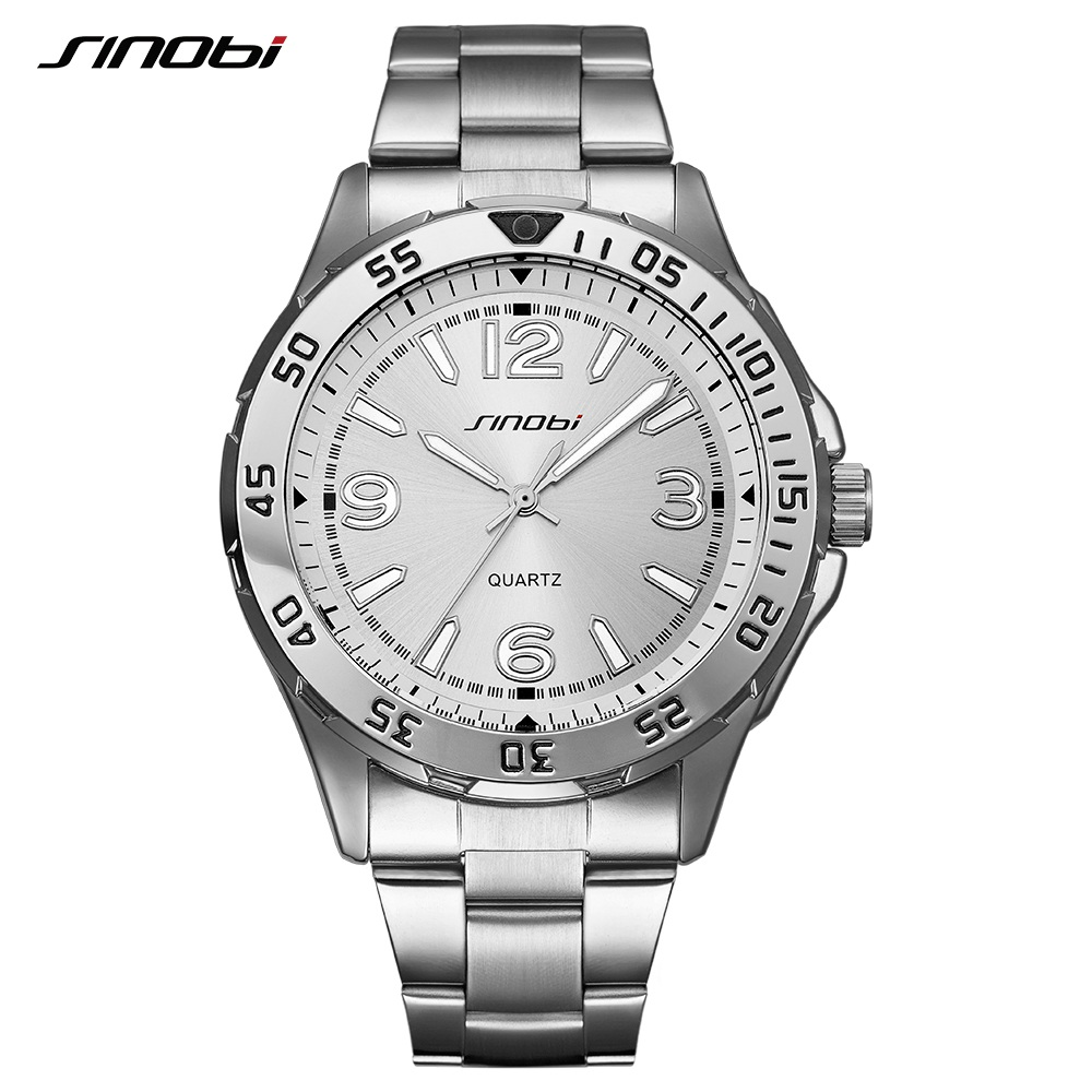Male Luminous Watches Steel Waterproof Quartz Safe Wrist Watch