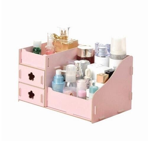 Wooden Storage Box storage box organizer Jewelry Makeup Kit Makeup Set Desktop Organizer ...