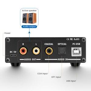 Image 3 - AIYIMA מיני HiFi 2.0 דיגיטלי אודיו מפענח USB DAC אוזניות מגבר 24Bit 96KHz קלט USB/קואקסיאלי/אופטי פלט RCA Amp DC5V