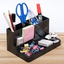 9115 Plastic Modern Pen Holder Student Stationery Box Office School Supplies Pen Pencil