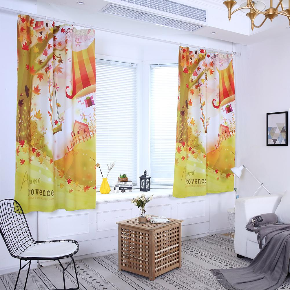 Us 6 38 Off Curtain Autumn Fairy World House Swing Window For Kids Bedroom Nursery Decor In Curtains From Home Garden On Aliexpress