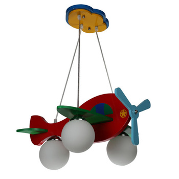 Modern Kids Bed | Modern Colorful Wooden Child Kids Cartoon Pendant Light Bedroom Lamp Aircraft Airplane Toy Christmas Gift Lamps Lighting PL271