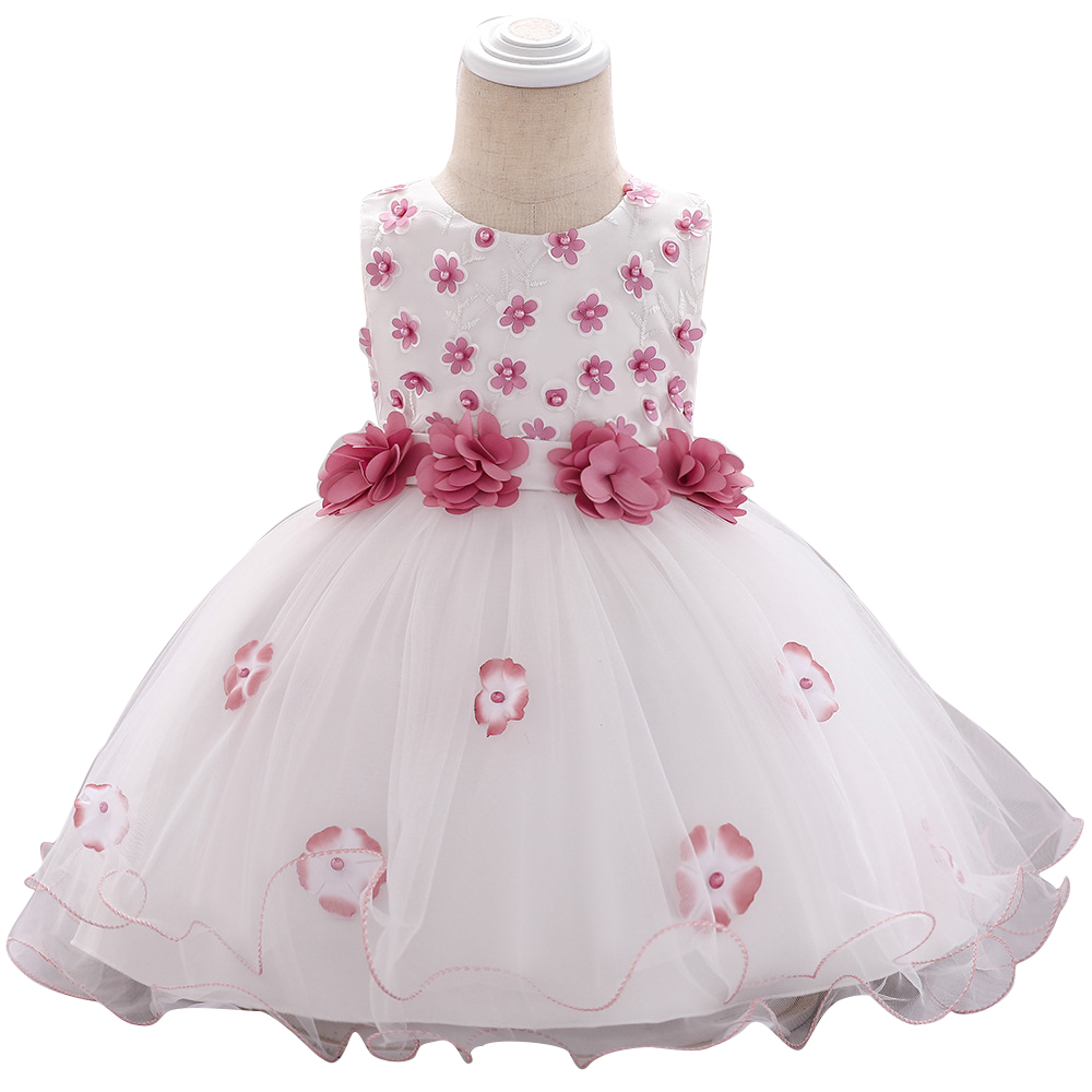 Infant Kid Baby Girl Fall Winter Embroidery Princess Tutu Dress Xmas Party Gown
