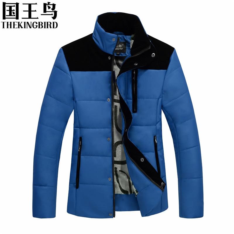 New Winter jacket men Warm Stand collar Plus velvet Cotton padded jacket Thick Leisure Short Men