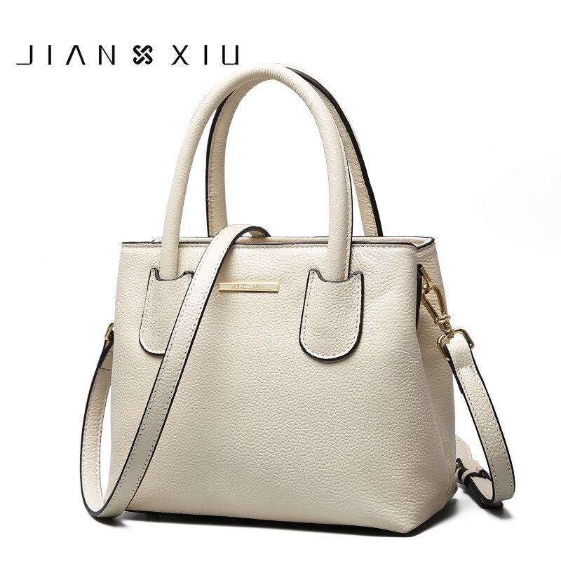 JIANXIU Brand Women Genuine Leather Handbags Famous Brands Handbag Messenger Small Bags Shoulder Bag Ladies Tote