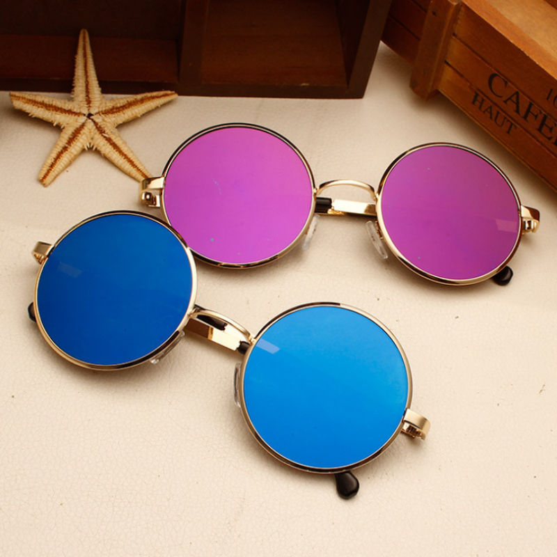 2b3ef2c808 Curtain Sun Glasses Unisex Retro Color film Elegant Metal Star Master Sunglasses  Women Men Big Round Frame Sun Glasses