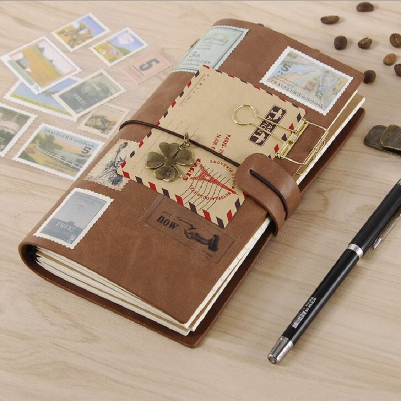 PU Leather Journal Traveler Notebook Planner Creative DIY Vintage Spiral Diary Notepads Daily Memos Notebooks Gifts цена 2017