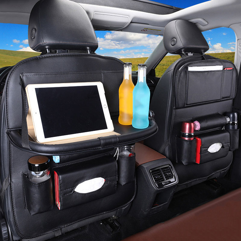 Car Back Seat Organiser Folding Table Tablet Drinks Laptop Holder Storage Gifts-in Stowing Tidying from Automobiles & Motorcycles