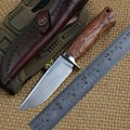 Botte VEYRON 12C27 лезвие с фиксированным лезвием  прямой охотничий нож  кожаный нож с деревянной ручкой  походные ножи  инструменты для повседневно...
