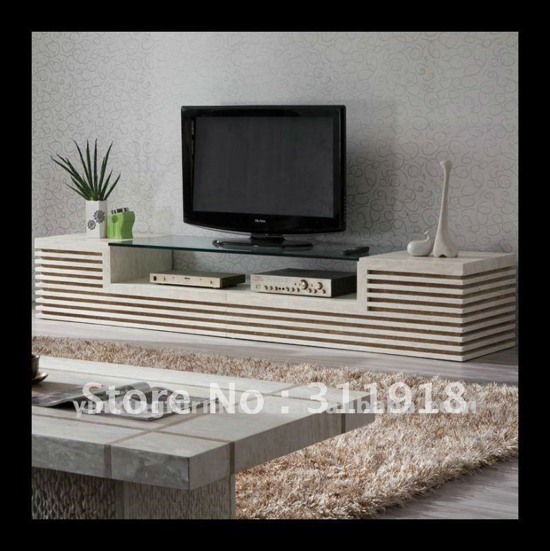White Stone Tv Stand In Tv Stands From Furniture On