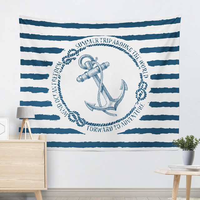Marine Style Striped Wall Tapestry 3