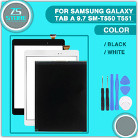 Original T550 LCD Touch Panel Digitizer For Samsung Galaxy Tab E SM T550 T550 T555 Display