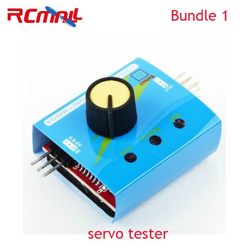 RCmall 3CH Digital Multi Servo Tester ECS RC Consistency CCMP Master Speed Controler Checker FS90R Servo 9g Servo FZ0011