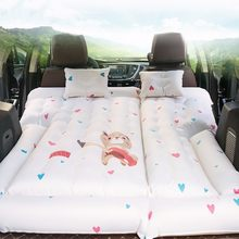 Vehicle Inflation Bed Outdoors Camping Life-saving Automobile Back Row Use Suv Travel Portable Air Cushion Flocking Mattress(China)