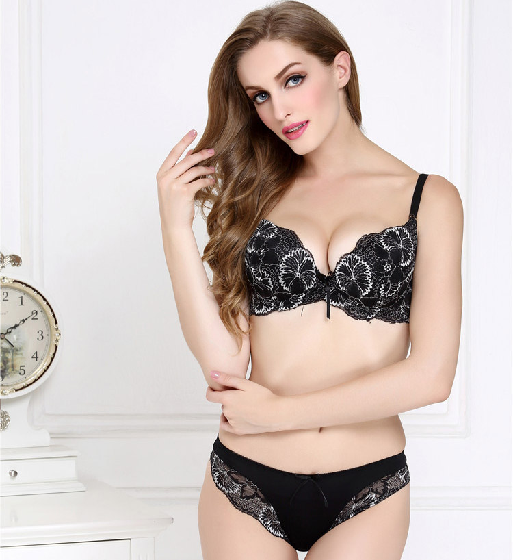 french design sexy lace bra set underwear set full lace flora thin cup bra and panty set. Black Bedroom Furniture Sets. Home Design Ideas