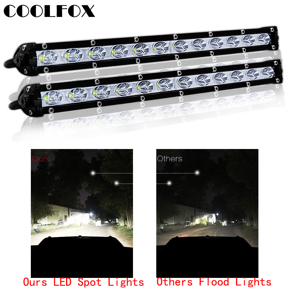 18w 36w Spot Led Work Light Bar Searchlight Spotlight For Tractor Trailer Atv Auto Car Motorcycle Ramp Lamp Worklight Accessory