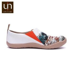 Image 4 - Uin um vermelho vival cidade arte pintada sapatos de lona para a mulher conforto deslizamento em mocassins casual sapatilha plana senhoras moda sapatos de caminhada