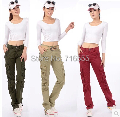 New arrival spring autumn cargo pants cotton full length plus size pocket straight casual trousers mid waist black smf0501 cotton denim jeans casual plus size bloomers pants for women spring autumn high waist new arrival female trousers black mfm0601