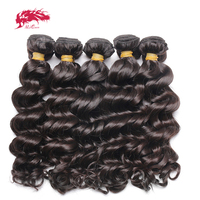 Ali Queen Hair Products 10Pcs Lot Virgin Indian Natural Wave Hair 100% Unprocessed Human Hair Weave With Free Shipping