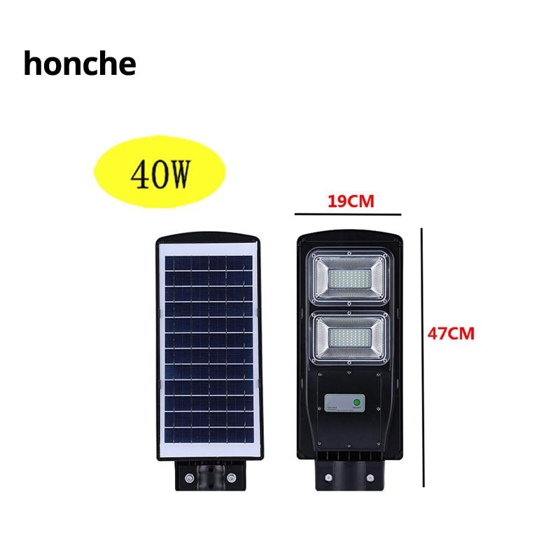 20/40/60W High-Brightness Solar Powered LED Street Light LEDs Lamp Beads PIR Motion Sensor Wall  Lamps Waterproof Outdoor Light