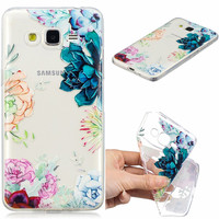 100pcs FOR Coque Samsung Galaxy Grand Prime Case Cover G530 G5308W Phone Back Soft Silicone FOR Funda Samsung Grand Prime Case