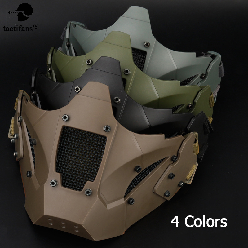 Tactical Airsoft Half Face Paintball mask for Helmet Protective CS Game Mask Connector Military Army Metal Steel Mesh Adjustable sw2009 tactic war game protective abs half face mask army green