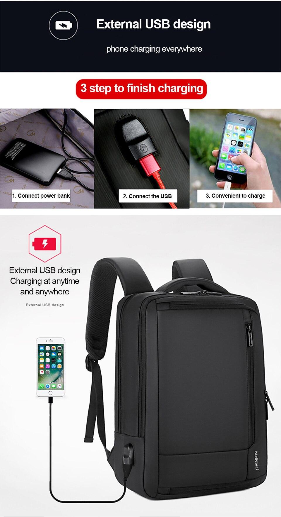 6 Multifunction USB Backpack Man Bag 15.6inch Laptop Backpacks Travel Bags Large Capacity Luggage Backpacking Waterproof Notebook