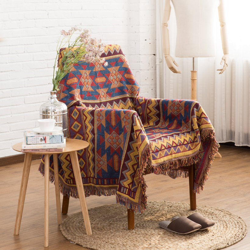 Us 39 99 Kilim 100 Cotton Bohemia Rug Carpet Exotic Geometric Bedding Couch Cover Throw Blanket Body Sofa For Picnic Floor In Blankets From Home