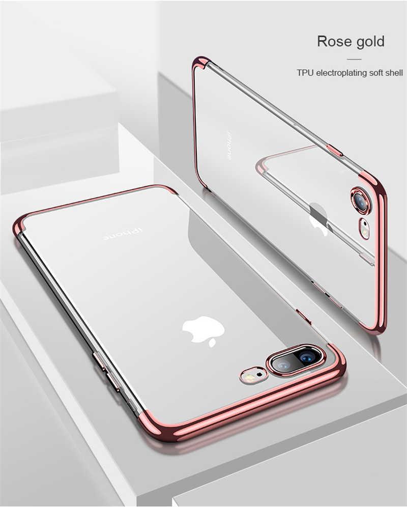 Claro suave caso para iPhone 6 S 6 S iPhone XR XS MAX X 10 8 7 Plus 6 Plus funda trasera ultrafina de TPU para teléfono móvil 7 Plus 8 Plus