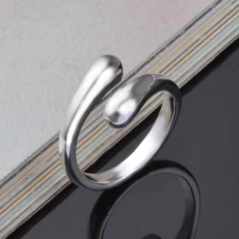 Модель 2018, простое Брендовое дизайнерское двойное круглое головное кольцо-кольцо Opend серебристого цвета, высокое качество, модные ювелирные изделия для женщин и девочек