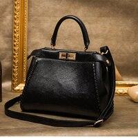 XIYUAN Female Red Handbag Famous Brand Genuine Leather Bags Women Fashion Vintage Travel Bag Shoulder Bags
