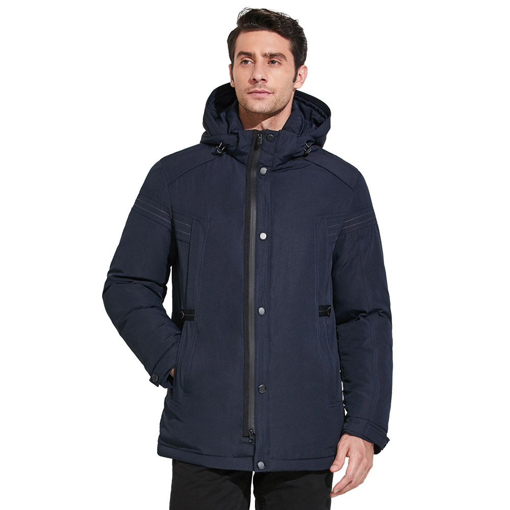 ICEbear 2018 Simple and comfortable warm winter windproof man's jacket with a hood with windproof sleeves 17MD827D
