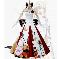 Fate Stay Night Saber Cosplay Costume Saber Wedding Dress Halloween Costume For Women