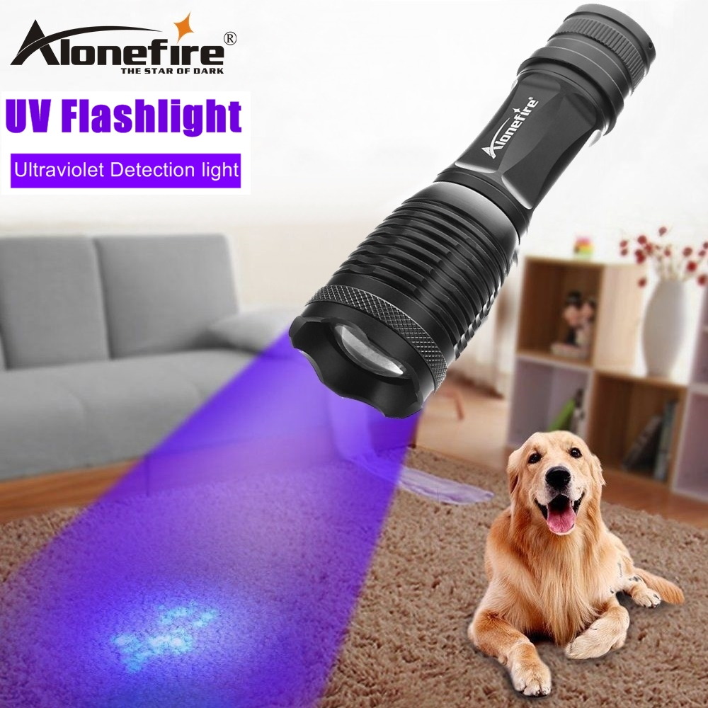 Lights & Lighting Forceful Alonefire High Power Zoom Uv Light Ultraviol Flashlight 395nm Travel Safety Cat Dog Pet Urine Detection Torch Lamp 18650 Battery In Short Supply Led Lighting