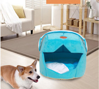 Warm Pet Nest Creative Space Cap Dog Beds Teddy Kennel Soft Fluff Washable Small/medium Dog Bed GP170911-5