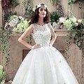 Recién llegados variedad de la princesa del cordón ata para arriba el rebordear vestido de novia todo el tamaño de novia vestidos vestido de noiva 778