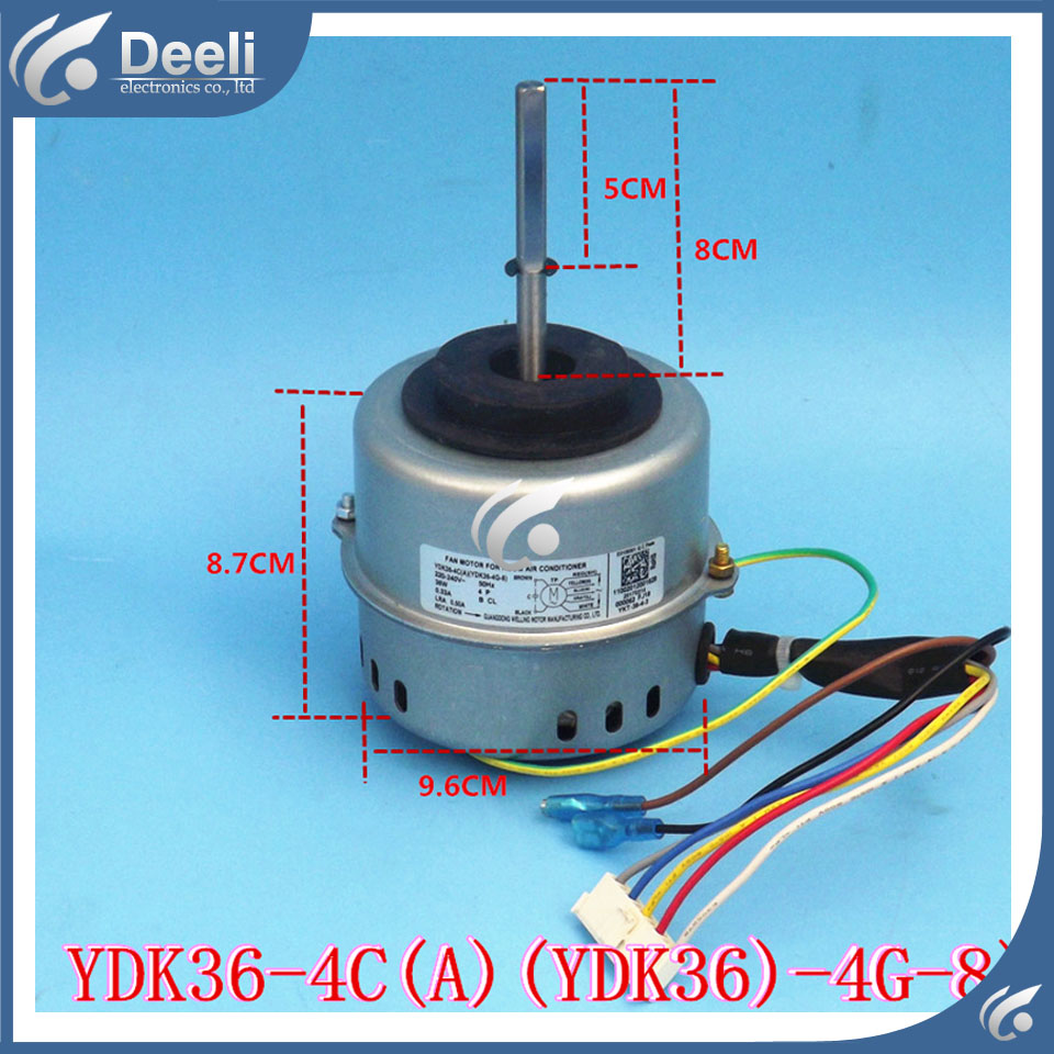 95% new Original for air conditioning Fan motor YDK36-4C(A) (YDK36-4G-8) 4G-8 36W Direction of departure