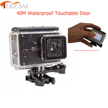 Tekcam para Xiaomi Yi 4 k Acessórios Touchable Caso Da Habitação de Mergulho À Prova D' Água tocar Backdoor para Xiaomi yi Yi 2 4 k 4 k plus +