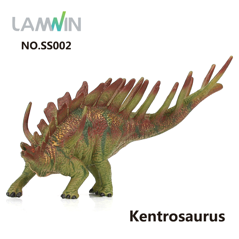 Lamwin Realistic Kentrosaurus Model Jurassic World Park Toy Dinosaur Plastic Wild Animal Action Figure 32cm jurassic animal model biology world park spinosaurus dinosaur model dinosaur plastic toy decorate gifts for children