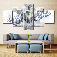 5 Panel Modern Home Art Wall HD Picture Canvas Printings Living Room Decoration Theme Cristiano Ronaldo