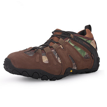 Outdoor Men's Climbing Hiking Shoes Camping Camouflage Mountaineering Male Non-slip Waterproof Hunting Fishing Walking Boots