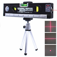 Nível laser 4 em 1 vertical horizon, linha cruzada magnética fita de medição alinhador laser linhas de marcação instrumentos óticos precisos