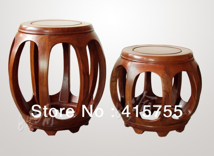 chinese antique style solid wooden round stool classic drum shape africa rsewood material-in Stools u0026 Ottomans from Furniture on Aliexpress.com | Alibaba ... : chinese stools wood - islam-shia.org
